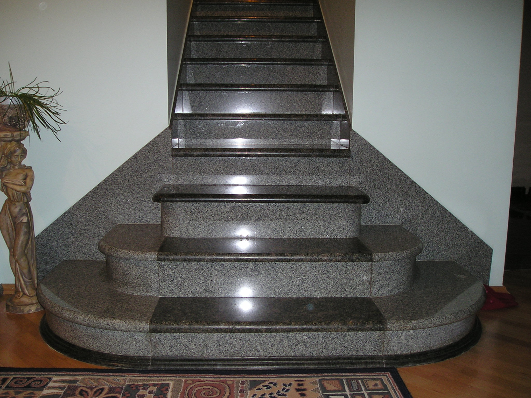 Granite staircase elegant designs types of staircase for House of granite and marble